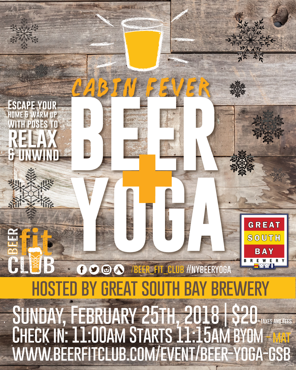 Beer + Yoga at Great South Bay